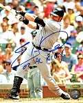Eric Hinske Autographed Toronto Blue Jays 8x10 Photo Inscribed 02 AL ROY