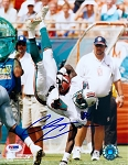 Chris Chambers Autographed Miami Dolphins Flip 8x10 Photo