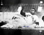 Willie Mays Autographed New York Giants Sliding 16x20 Photo