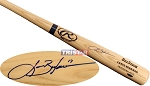 Lance Berkman Autographed Rawlings Name Model Blonde Bat