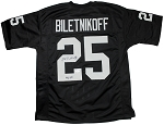 Fred Biletnikoff Autographed Oakland Raiders Jersey Inscribed HOF 88