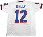Jim Kelly Autographed Buffalo Bills Custom White Jersey