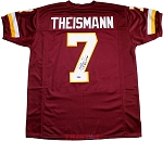Joe Theismann Autographed Redskins Custom Jersey Inscribed SB XVII Champs