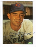 Tommy Brown Autographed Cubs 8x10 Photo Youngest Player to Hit HR