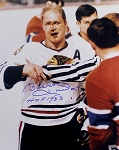 Bobby Hull Autographed Chicago Blackhawks 16x20 Photo Inscribed HOF 83