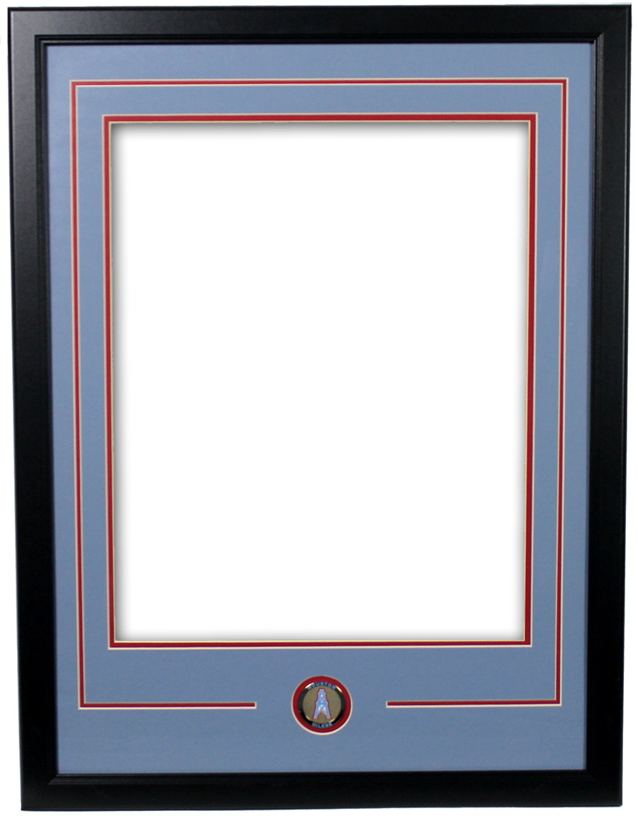 Houston oilers double matted frame with logo coin jeuxipadfo Image collections