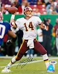 Brad Johnson Autographed Washington Redskins Throwing 8x10 Photo