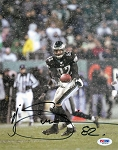 LJ Smith Autographed Philadelphia Eagles 8x10 Photo