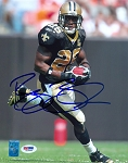 Reggie Bush Autographed New Orleans Saints Running 8x10 Photo