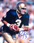 Ron Powlus Autographed Notre Dame Fighting Irish 8x10 Photo