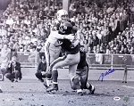 Y.A. Tittle Autographed New York Giants 16x20 Photo with Bob Lilly