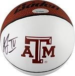 Acie Law Autographed Texas A&M Aggies Logo Mini Basketball