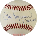 Bill Melton Autographed American League Baseball Inscribed 71 HR Champ