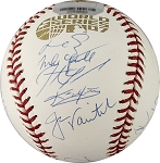 Boston Red Sox Team Signed 2007 World Series Baseball - 24 Signatures