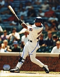 Henry Rodriguez Autographed Chicago Cubs Swinging 8x10 Photo