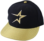 Darryl Kile Autographed Houston Astros Player Worn Gold Bill Cap