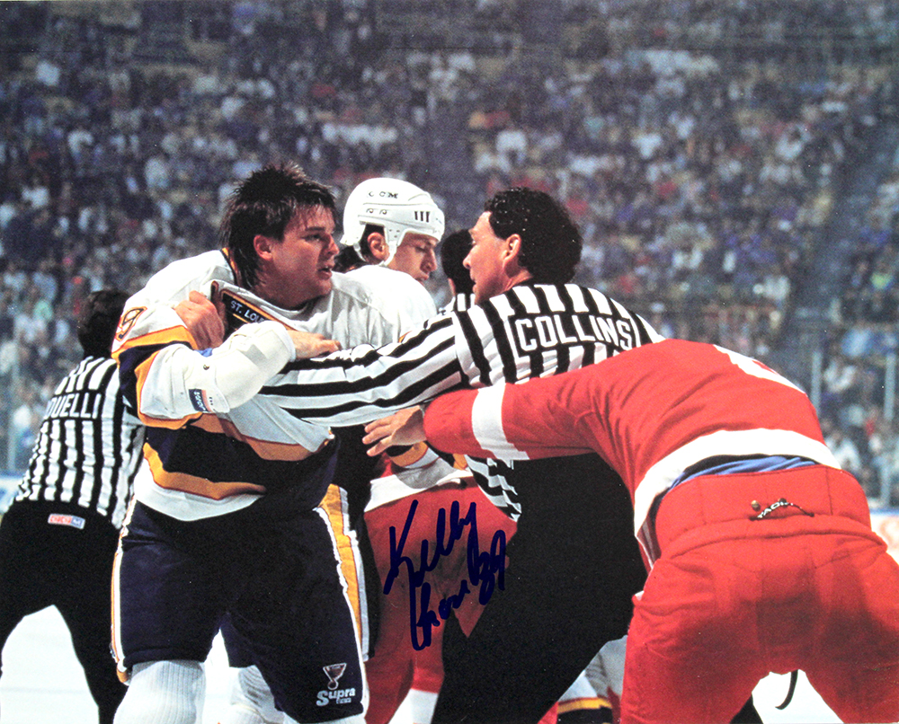 kelly chase autographed st  louis blues 8x10 photo