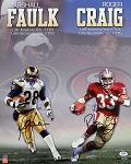 Marshall Faulk & Roger Craig Autographed 1000 / 1000  16x20 Photo