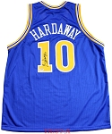 Tim Hardaway Autographed Golden State Warriors Custom Blue Jersey