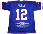 Jim Kelly Autographed Buffalo Bills Career Stat Jersey