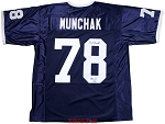 Mike Munchak Autographed Penn State Jersey Inscribed HOF 01