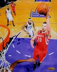 Donatas Motiejunas Autographed Houston Rockets 8x10 Photo