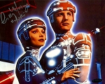 Cindy Morgan Autographed TRON w/Boxleitner 8x10 Photo Inscribed Yori