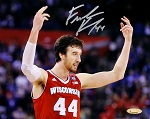 Frank Kaminsky Autographed Wisconsin Badgers Arms Up 8x10 Photo