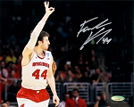 Frank Kaminsky Autographed Wisconsin Badgers Three Fingers 8x10 Photo