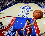 Jahlil Okafor Autographed Philadelphia 76ers Lay Up 8x10 Photo