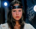 Linda Blair Autographed Exorcist Brain Scan 8x10 Photo Inscribed Sweet Dreams