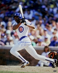 Andre Dawson Autographed Chicago Cubs 16x20 Photo Inscribed 87 NL MVP