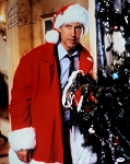 Chevy Chase Autographed Christmas Vacation Standing Next to Tree 16x20 Photo
