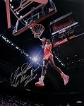 Dominique Wilkins Autographed Hawks 16x20 Photo Inscribed 2x Slam Dunk Champ