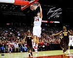 Frank Kaminsky Autographed Wisconsin Badgers Two-Hand Dunk 16x20 Photo