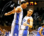Jahlil Okafor & Tyus Jones Dual Autographed Duke 16x20 Photo