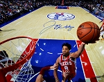 Jahlil Okafor Autographed Philadelphia 76ers Lay Up 16x20 Photo