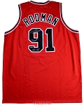 Dennis Rodman Autographed Chicago Bulls Custom Jersey Inscribed 3 Peat 96-98