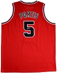 Bobby Portis Autographed Chicago Bulls Custom Jersey Inscribed Crazy Eyes