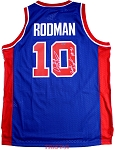 Dennis Rodman Autographed Pistons Adidas Swingman Jersey Inscribed Back to Back 89-90
