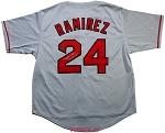 Manny Ramirez Autographed Boston Red Sox Jersey Inscribed 04 WS MVP