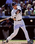 Troy Tulowitzki Autographed Colorado Rockies Swinging 8x10 Photo