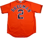 Alex Bregman Autographed Houston Astros Orange Replica Jersey