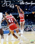 Eric Davis Autographed Houston Cougars 8x10 Photo Inscribed Phi Slama Jama