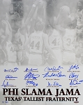 Houston Phi Slama Jama Autographed Texas' Tallest Fraternity 16x20 Photo