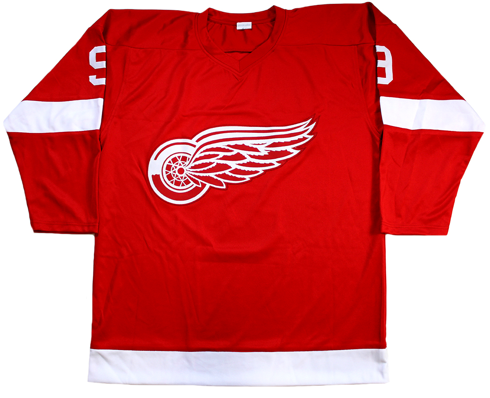 85a2cb81a Gordie Howe Autographed Red Wings Red Custom Jersey Inscribed ...