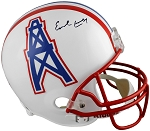 Earl Campbell Autographed Houston Oilers Full Size Replica Helmet