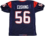 Brian Cushing Autographed Houston Texans Blue Custom Jersey