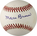 Mace Brown Autographed National League Baseball