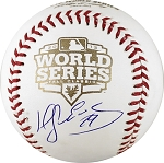 Hector Sanchez Autographed 2012 World Series Baseball